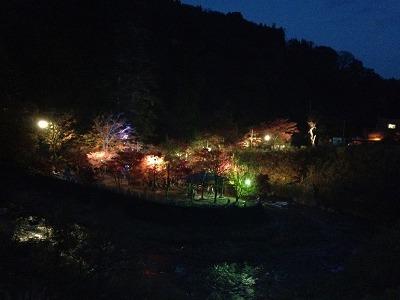 中野もみじ山を橋の上から撮影。