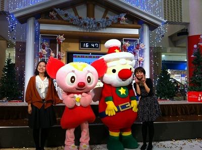 佐藤アナとララちゃんとだっこサンタちゃんと私