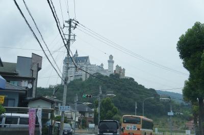 山の上に突如現れたお城