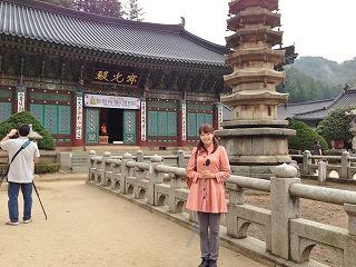 月精寺。地域を代表する寺院です