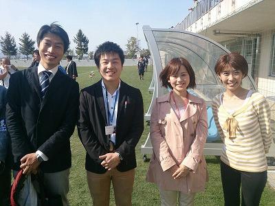 (左から、IBCの浅見アナ、私、佐藤アナ、IBCの奥村アナ)