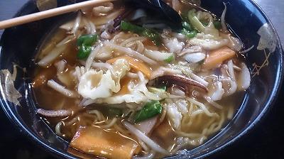 熱々イカチャンポン麺の完成♪