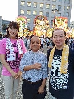 郷土史家の江刺家均さん、 川口アナウンサーと(^^)