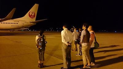 夜の空港、ワクワク・・・☆