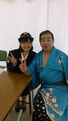 手踊りを披露してくださった「まっちゃん」こと松橋巡査部長!