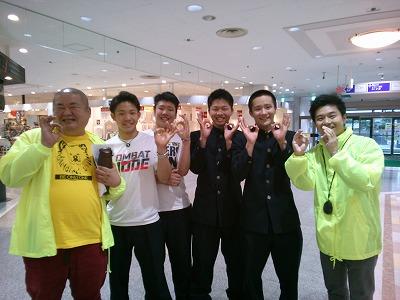オープニングで出演してくれた青森山田高校柔道部の4人組