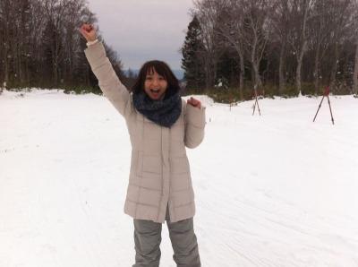 雪だ―!!