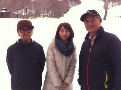 八甲田国際スキー場の工藤利雄社長(右)と工藤雅和さん