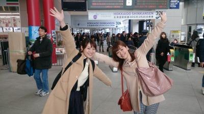 函館駅にて(開業前)