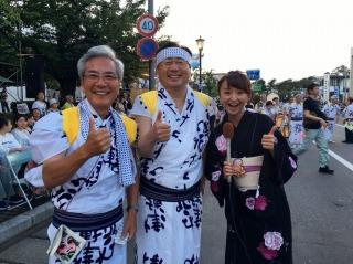 素敵な笑顔の三村知事と弘前市の葛西市長です。