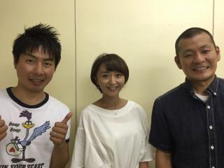 U字工事の福田さん(左)と益子さん(右)ありがとうございました!