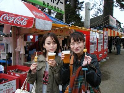 初めて行った弘前さくらまつり(2011年)