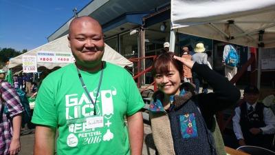 こさぶさんそっくりの、田子町役場の佐藤さんと再会!