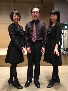 一緒に参加した猿ヶ澤さん(中央)と吉町さん(右)