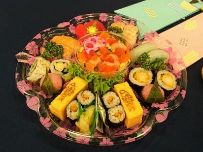 テーブルがパッと華やぐお寿司♪