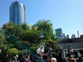 お天気に恵まれた結婚式でした♪
