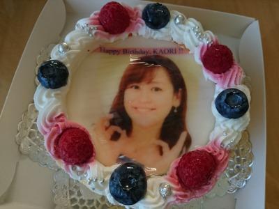 生まれて初めて顔写真入りのケーキをいただきました!!