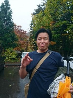 吉田さんも露天風呂に入って大満足