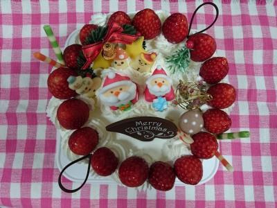 もりもりだくさんクリスマスケーキ☆