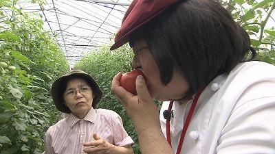さぶ子さん、トマトをもぐもぐ♪