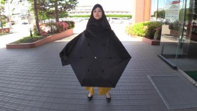 折り畳み傘ときどきポンチョ