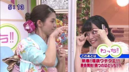 目を開く佐藤に目つぶしする五月女さん。笑